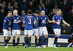 Leon Osman of Everton (2r) celebrates scoring - UEFA Europa League - Everton vs  Lille - Goodison Park Stadium - Liverpool - England - 6th November 2014 - Pic Simon Bellis/Sportimage