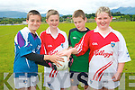 Football fun at the Kilcummin GAA Cúl Camp. .L-R Paul O'Shea, Dylan Murphy, Cathal Healy and Michael Brosnan.