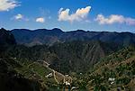 Landscape of terraced fields. Gomera, Canary Islands,Spain