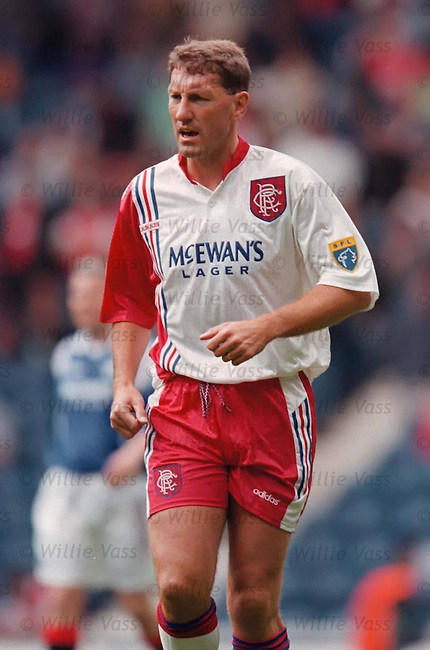Terry Butcher back at Ibrox for a charity match in the mis 90s