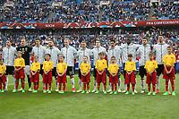 Deutsche Mannschaft bei der Hymne - 19.06.2017: Australien vs. Deutschland, Fisht Stadium Sotschi