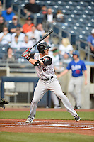 ***Temporary Unedited Reference File***Arkansas Travelers center fielder Chad Hinshaw (6) during a game against the Tulsa Drillers on April 28, 2016 at ONEOK Field in Tulsa, Oklahoma.  Tulsa defeated Arkansas 5-4.  (Mike Janes/Four Seam Images)