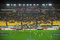 A general view of Westpac Stadium during the Super Rugby match between the Hurricanes and Chiefs at Westpac Stadium, Wellington, New Zealand on Friday, 17 May 2013. Photo: Dave Lintott / lintottphoto.co.nz