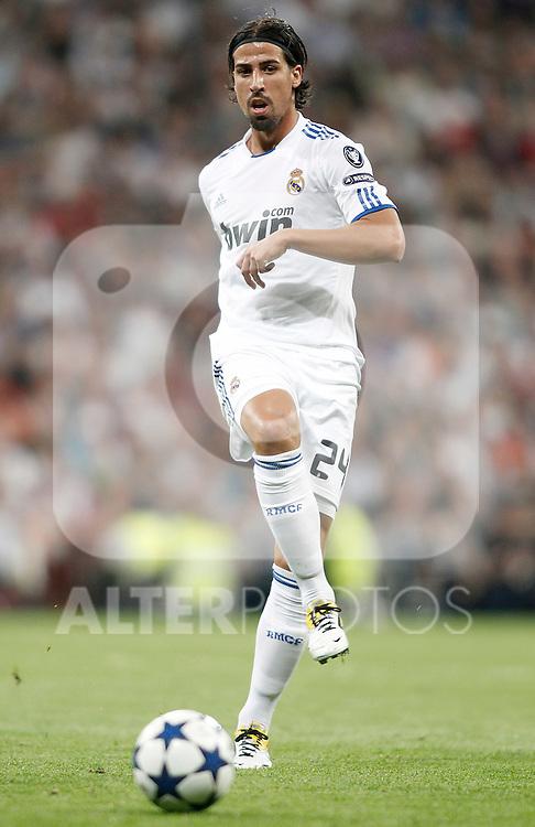 Real Madrid's Sami Khedira during Champions League Match. April 05, 2011. (ALTERPHOTOS/Alvaro Hernandez)