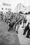 Miami, FL. August 23rd 1972.<br /> Outside of the 1972 30th Republican Convention, police arrest 1000 demonstrators attempting to disrupt the event. Several thousand Women's Lib protesters demonstrate, led by Jane Fonda, were joined by the Vietnam Veterans to speak out against the war.