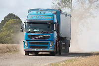 Grain lorry arriving on farm<br /> ©Tim Scrivener Photographer 07850 303986<br />      ....Covering Agriculture In The UK....