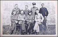 BNPS.co.uk (01202 558833)<br /> Pic: C&amp;T/BNPS<br /> <br /> A remarkable collection of images of Nazi high ranking officers at a Welsh prisoner of war camp in the aftermath of the Second World War have been unearthed after 70 years.<br /> <br /> Senior figures including Gerd von Rundstedt who was commander in chief of the German army in the campaign against France in 1940 were held at Island Farm Prisoner of War camp near Bridgend while awaiting the Nuremburg Trials.<br /> <br /> In one startling image, Rundstedt is greeted at a train station by a British officer, while another image shows the field marshal being saluted by the other prisoners upon his return from the Nuremburg Trials.<br /> <br /> The fascinating collection of photographs, documents and letters, which were compiled by the camp's intelligence officer, Captain Ted Lees, has emerged for auction through a private collector and is tipped to sell for &pound;5,000.