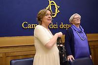 Roma, 9 Marzo 2015<br /> Conferenza stampa per presentare le iniziative politiche e sanitarie a favore dell'autismo in attesa della prossima giornata mondiale del 2 Aprile.<br /> Nella foto la ministra della Sanit&agrave; Beatrice Lorenzin e  Paola Binetti