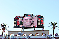 3 November 2007: Stanford Cardinal 2007 Hall of Fame Inductee Kate Starbird during Stanford's 27-9 loss against the Washington Huskies at Stanford Stadium in Stanford, CA.