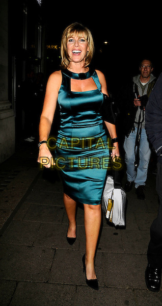 RUTH LANGSFORD.The TVQuick & TV Choice Awards, Dorchester Hotel, London, England..September 8th, 2008.tv quick choice full length dress green silk satin dress bag.CAP/CAN.©Can Nguyen/Capital Pictures.
