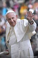 Pope Francis  during a weekly general audience at Saint Peter's square on October 30, 2019