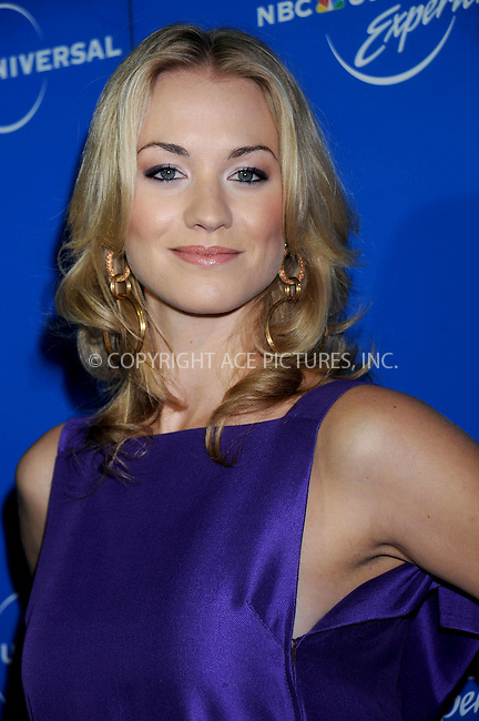 WWW.ACEPIXS.COM . . . . .....May 12, 2008. New York City.....Actress Yvonne Strahovski attends the NBC Universal Experience at Rockefeller Center.  ....Please byline: Kristin Callahan - ACEPIXS.COM..... *** ***..Ace Pictures, Inc:  ..Philip Vaughan (646) 769 0430..e-mail: info@acepixs.com..web: http://www.acepixs.com