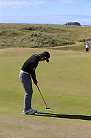 Soomin Lee (KOR) putts onto the 1st green during Friday's Round 2 of the 2018 Dubai Duty Free Irish Open, held at Ballyliffin Golf Club, Ireland. 6th July 2018.<br /> Picture: Eoin Clarke | Golffile<br /> <br /> <br /> All photos usage must carry mandatory copyright credit (&copy; Golffile | Eoin Clarke)