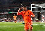 Liverpool's Philippe Coutinho celebrates scoring his sides opening goal during the premier league match at the Emirates Stadium, London. Picture date 22nd December 2017. Picture credit should read: David Klein/Sportimage