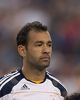 Los Angeles Galaxy midfielder Juninho (19). In a Major League Soccer (MLS) match, the Los Angeles Galaxy defeated the New England Revolution, 1-0, at Gillette Stadium on May 28, 2011.