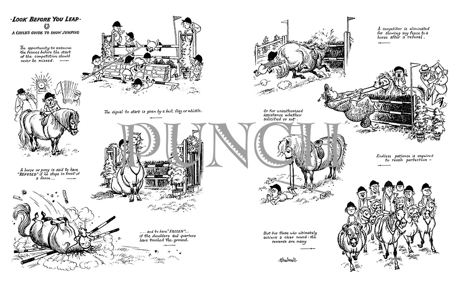 norman thelwell cartoons from punch magazine punch magazine look before you leap a child s guide to show jumping