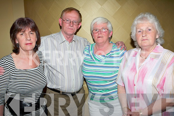 Having a great time at Michael 'Fox' O'Connor's 60th birthday party held in The Brandon Hotel on Saturday night were l/r Ann Hobbert, Paul Hobbert, Angela Walsh and Sis O'Connor..   Copyright Kerry's Eye 2008
