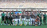 RIO DE JANEIRO, RJ, 26 DE FEVEREIRO 2012 - CAMPEONATO CARIOCA - FINAL - TACA GUANABARA - VASCO X FLUMINENSE - Jogadores do Fluminense posam para foto antes da partida contra o Vasco, pela final da Taca Guanabara, no estadio Engenhao, na cidade do Rio de Janeiro, neste domingo, 26. FOTO: BRUNO TURANO – BRAZIL PHOTO PRESS
