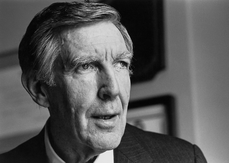 "Rep. Morris King ""Mo"" Udall, D-Ariz., House Interior and Insular Affairs Committee Chairman, House of Representatives Member. July 11, 1990 (Photo by Maureen Keating/CQ Roll Call)"