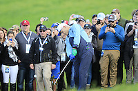 Actor Bill Murray plays his 2nd shot from the rough on the 6th hole at Pebble Beach Golf Links during Saturday's Round 3 of the 2017 AT&amp;T Pebble Beach Pro-Am held over 3 courses, Pebble Beach, Spyglass Hill and Monterey Penninsula Country Club, Monterey, California, USA. 11th February 2017.<br /> Picture: Eoin Clarke | Golffile<br /> <br /> <br /> All photos usage must carry mandatory copyright credit (&copy; Golffile | Eoin Clarke)