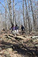 NWA Democrat-Gazette/FLIP PUTTHOFF <br /> Hikers take in the trai at Lake Wilson Park.
