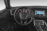 Car pictures of steering wheel view of a 2018 Dodge Challenger SXT 2 Door Coupe Steering Wheel