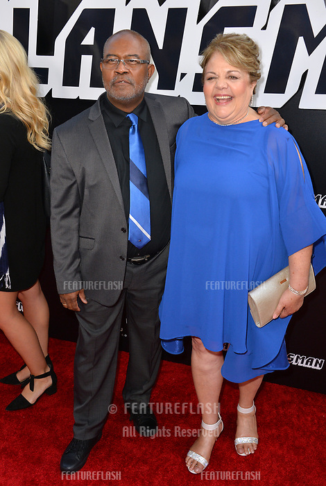 Ron Stallworth &amp; Patsy Terrazas-Stallworth at the Los Angeles premiere of &quot;BlacKkKlansman&quot; at the Academy's Samuel Goldwyn Theatre, Beverly Hills, USA 08 Aug. 2018<br /> Picture: Paul Smith/Featureflash/SilverHub 0208 004 5359 sales@silverhubmedia.com