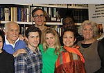 """Rehearsals for Ragtime starring One Life To Live Kerry Butler """"Claudia Reston"""" (green), Dick Latessa (Edge of Night) (blue), Matt Cavenaugh (also As The World Turns """"Adam Munson"""") (plaid), General Hospital Tyne Daly """"Caroline"""" (right), All My Children Norm Lewis """"Keith McLean"""" & now Scandal (back right), As The World Turns Lea Salonga """"Lien Hughes"""" (multi), Young and the Restless Howard McGillan """"Snapper's brother - Greg Foster"""" (back L) on February 11, 2013 for a concert at Avery Fisher Hall, New York City, New York on Monday February 18, 2013. (Photo by Sue Coflin/Max Photos)"""