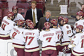 Mike Brennan, Anthony Aiello, Brett Motherwell, Greg Brown, ?, Joe Rooney, Jerry York, Peter Harrold, Benn Ferreiro, ?, Andrew Orpik, Stephen Gionta, Brian Boyle - The Boston College Eagles and Ferris State Bulldogs tied at 3 in the opening game of the Denver Cup on Friday, December 30, 2005, at Magness Arena in Denver, Colorado.  Boston College won the shootout to determine which team would advance to the Final.