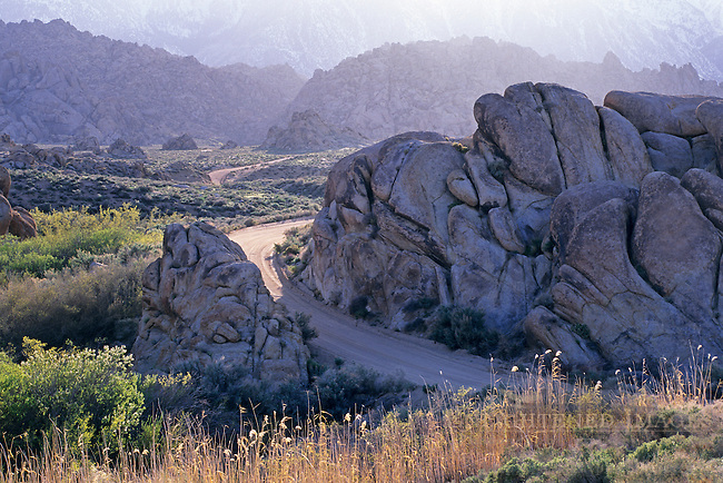 Dirt road through the Alabama Hills, near Lone Pine, Eastern Sierra, California