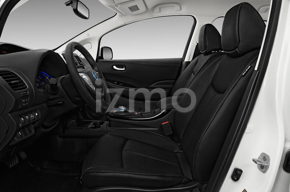 Front seat view of 2017 Nissan Leaf SL 5 Door Hatchback front seat car photos