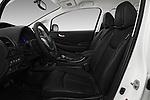 Front seat view of 2017 Nissan Leaf SL 5 Door Hatchback front seat car photos