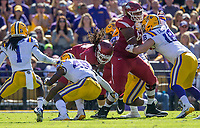 NWA Democrat-Gazette/BEN GOFF @NWABENGOFF<br />  in the first quarter Saturday, Nov. 11, 2017 at Tiger Stadium in Baton Rouge, La.