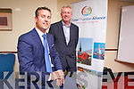 Padraig McGillycuddy President of the Tralee Chamber Alliance and Kieran Ruttledge CEO of the Tralee Chamber Alliance  pictured at the AGM on Monday evening at the Grand Hotel.