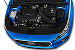 Car Stock 2017 Hyundai i30 Luxury-Launch-Edition 5 Door Hatchback Engine  high angle detail view