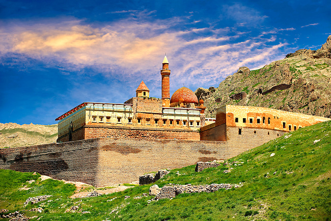 18th Century Ottoman architecture of the Ishak Pasha Palace (Turkish: İshak Paşa Sarayı) ,  Ağrı province of eastern Turkey.
