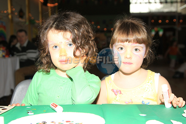 Doireann Monaghan and Chelsea McGuirke at the St patricks Day party in Drumcar..Picture Fran Caffrey www.newsfile.ie..