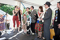 The best dressed family at The 2012 Historic Houses Trust of NSW annual Fifties Fair at Rose Seidler House, Sydney. Picture James Horan