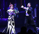 "Leslie Kritzer and Adam Dannheisser during the Broadway Opening Night Performance Curtain Call for ""Beetlejuice"" at The Winter Garden on April 25, 2019 in New York City."