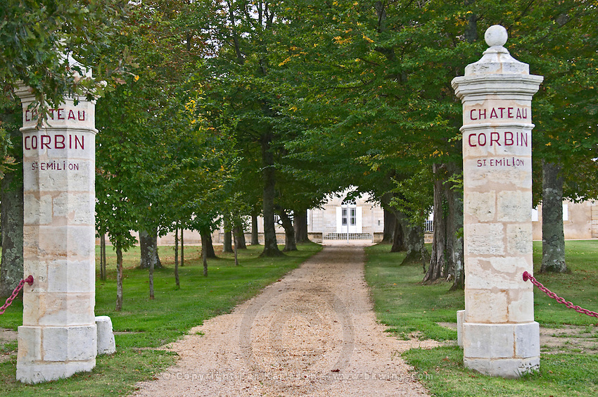 Gates. Chateau Corbin. Saint Emilion, Bordeaux, France