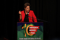 SÃO PAULO, SP - 29.05.2015 - DILMA-SP - A presidente Dilma Rousseff (Partido dos Trabalhadores) participa da abertura da 10ª Conferência Nacional do PCdoB, no bairro da Vila Mariana, zona sul de São Paulo, nesta sexta-feira (29). (Foto: Douglas Pingituro/Brazil Photo Press)