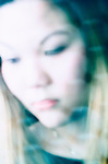 soft focus portrait of Asian teen girl