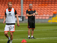 Blackpool caretaker manager Terry McPhillips watches on during the warm up<br /> <br /> Photographer Alex Dodd/CameraSport<br /> <br /> The EFL Sky Bet League One - Blackpool v Portsmouth - Saturday August 11th 2018 - Bloomfield Road - Blackpool<br /> <br /> World Copyright &copy; 2018 CameraSport. All rights reserved. 43 Linden Ave. Countesthorpe. Leicester. England. LE8 5PG - Tel: +44 (0) 116 277 4147 - admin@camerasport.com - www.camerasport.com