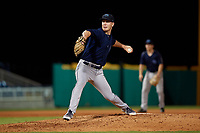 Mobile BayBears pitcher Max Herrmann (45) during a Southern League game against the Mobile BayBears on July 25, 2019 at Blue Wahoos Stadium in Pensacola, Florida.  Pensacola defeated Mobile 3-2 in the second game of a doubleheader.  (Mike Janes/Four Seam Images)