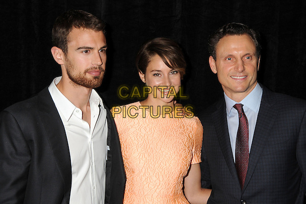 28 February 2014 - Beverly Hills, California - Theo James, Shailene Woodley, Tony Goldwyn. 51st Annual Publicists Awards Luncheon held at the Beverly Wilshire Hotel. <br /> CAP/ADM/BP<br /> &copy;Byron Purvis/AdMedia/Capital Pictures
