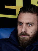 Calcio, Serie A: Roma, stadio Olimpico, 1marzo 2017.<br /> Roma&rsquo;s Daniele De Rossi waits for the start of the Italian TIM Cup 1st leg semifinal football match between Lazio and AS Roma at Rome's Olympic stadium, on March 1, 2017.<br /> UPDATE IMAGES PRESS/Isabella Bonotto