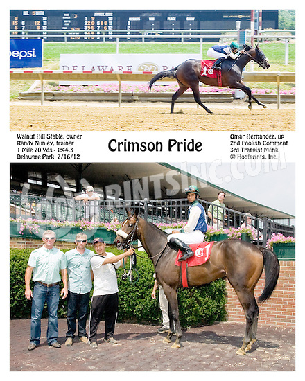 Crimson Pride winning at Delaware Park on 7/16/12