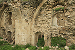 Israel, Sharon region, Kakun National Park, ruins of the building next to the fortress
