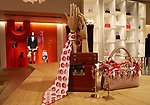 """January 18, 2018, Tokyo, Japan - Bags, accessories and clothes of  French fashion giant Louis Vuitton are displayed at a press preview of Louis Vuitton's shop in Tokyo on Thursday, January 18, 2018. Louis Vuitton will open a shop which has motif of the dog for the """"Year of the Dog"""" of Chinese zodiac on January 20. (Photo by Yoshio Tsunoda/AFLO) LWX -ytd-"""