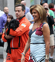 NEW YORK, NY-September 28: Carson Daly, Hoda Kotb, at  Today Show Commerical at 30 Rockefeller  Center Plaza in New York. September 28, 2016. Credit:RW/MediaPunch
